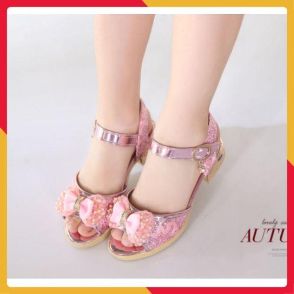 Giá bán Dép sandal công chúa bé gái 4-10 tuổi
