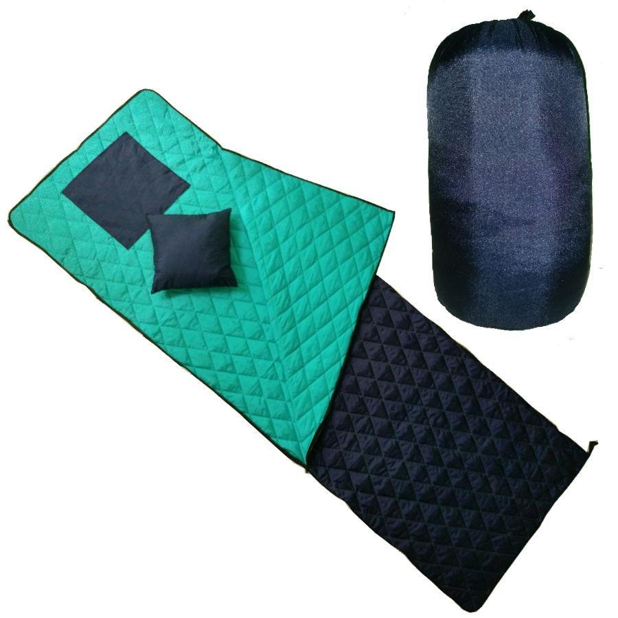 Túi ngủ dã ngoại, văn phòng, ngủ trưa - Xanh Navy - 4