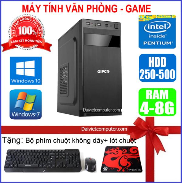 Case máy tính để bàn CPU Dual Core E7/8xxx / Core i5-2320 / Ram 4GB / HDD 250GB-500GB/SSD 120G-240GB + [QUÀ TẶNG: Bộ phím chuột không dây + bàn di chuột] VPI52 - LDV
