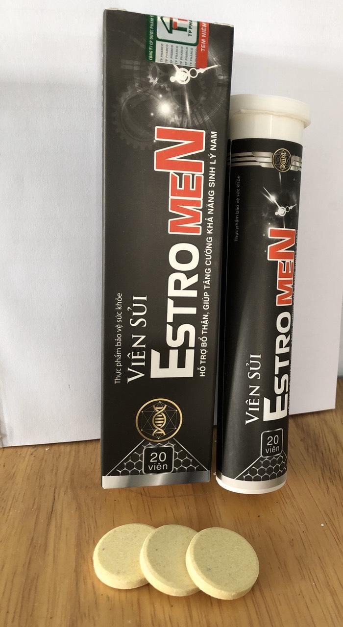 Viên sủi Estromen - Hỗ trợ sinh lý nam - Hộp 20 viên sủi nhập khẩu