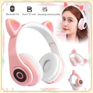 [HCM]Tai Nghe Mèo Bluetooth CÓ ĐÈN PHÁT SÁNG Headphone Tai Mèo Dễ Thương Có MicÂm Bass Mạnh Mẽ Và Dung Lượng Pin Khủng 400mAh BH 12 Tháng thumbnail