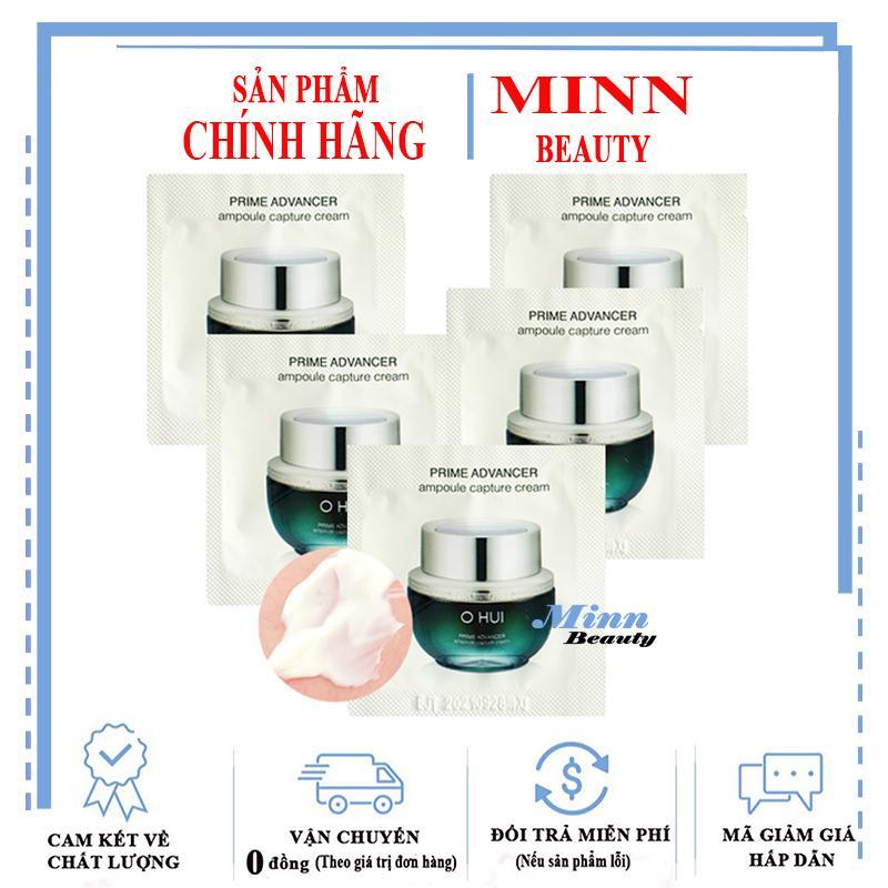 Combo 5 Kem Dưỡng Ngăn Ngừa Lão Hóa Xóa Mờ Nếp Nhăn Ohui Prime Advancer Ampoule Capture Cream 1MLX5 Giá Siêu Rẻ