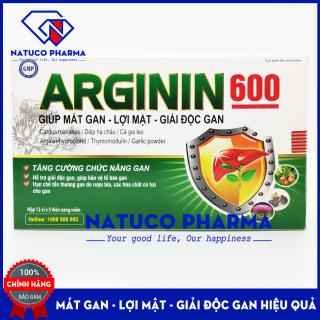 Viên uống giải đôc gan ARGININ600 - Cà gai leo, actiso, tỏi đen, diệp hạ châu - giúp mát gan, lợi mật, tăng cường chức năng gan hiệu quả - Hộp 60 viên chuẩn GMP Bộ Y tế thumbnail