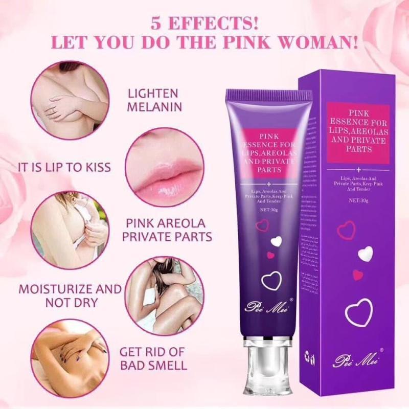 Kem làm hồng môi,nhũ hoa,vùng kín PINK ESSENCE FOR LIPS