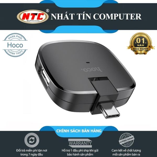 Bảng giá Đầu đọc OTG TypeC ra 3 cổng USB Hoco HB11 - hỗ trợ nhận 3 thiết bị cùng lúc (đen) Hãng Phân Phối Chính Thức - Nhất Tín Computer Phong Vũ