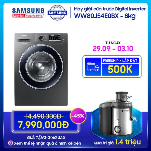 Bảng giá Máy giặt cửa trước Samsung Digital Inverter 8kg - WW80J54E0BX Điện máy Pico