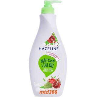 Sữa Dưỡng Thể 370ml Hazeline Dưỡng Trắng Da Matcha Lựu Đỏ thumbnail