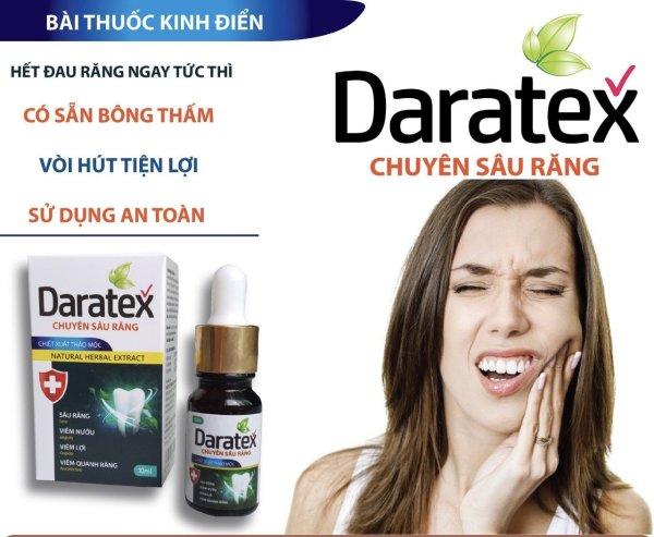 Dung dịch chấm sâu răng Daratex tác dụng nhanh tại vị trí đau sâu răng lọ 10ml