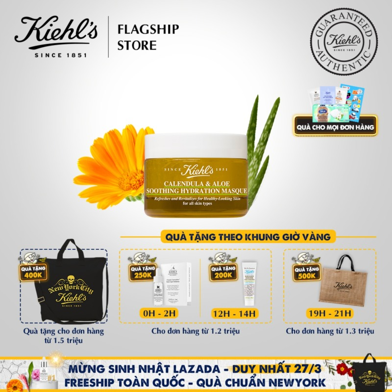 Mặt Nạ Hoa Cúc Kiehls Calendula & Aloe Soothing Hydration Masque 28ML nhập khẩu