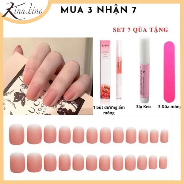 [Tặng keo+ dũa] Set 24 móng tay giả cao cấp- nail giả Kinakino phukienlamdep giá rẻ