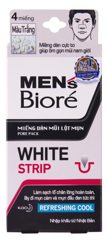 Miếng dán mũi lột mụn dành cho nam(Màu trắng)