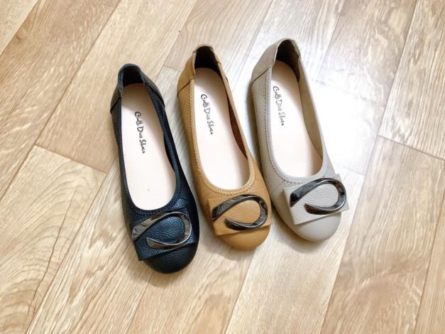 Giày Búp Bê Bệt Da Bò Thật Siêu Êm Gắn Nơ giá rẻ
