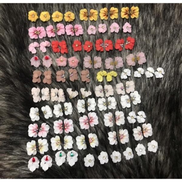 Set 100 hoa bột làm nail đẹp giá rẻ