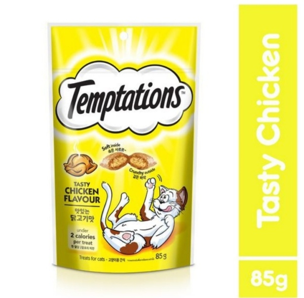 Thức ăn vặt cho mèo Temptations vị gà 85g