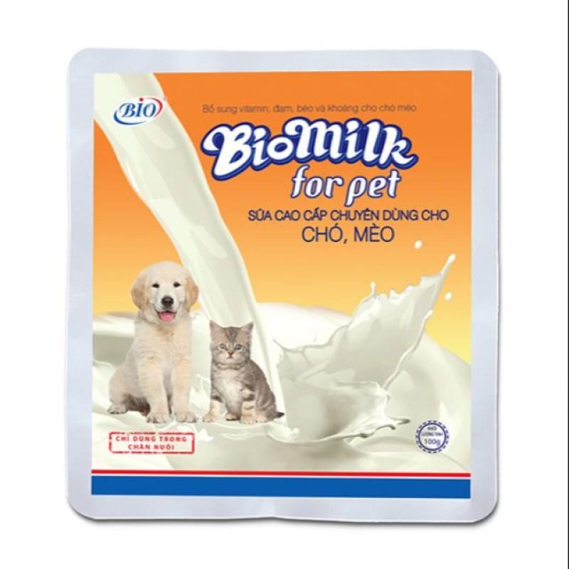 Bio Milk For Pet - Sữa Cao Cấp Bổ Sung Vitamin, Khoáng Dành Cho Chó Mèo - 100G