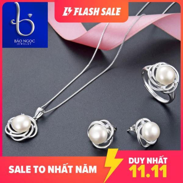 Bộ Trang Sức Ngọc Trai Nữ Hoàng Trang Sức Bạc Đính Ngọc Trai BNT621 Bảo Ngọc Jewelry