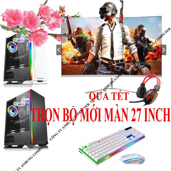 Bảng giá [MÁY MỚI] Bộ máy tính để bàn chơi game pc chip i5 màn 27 inch MỚI FULL BOX 100%, sản phẩm mới trọn bộ đầy đủ full box Phong Vũ