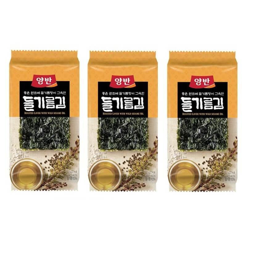 Rong biển ăn liền vị dầu tía tô 5g*3 gói Hàn Quốc