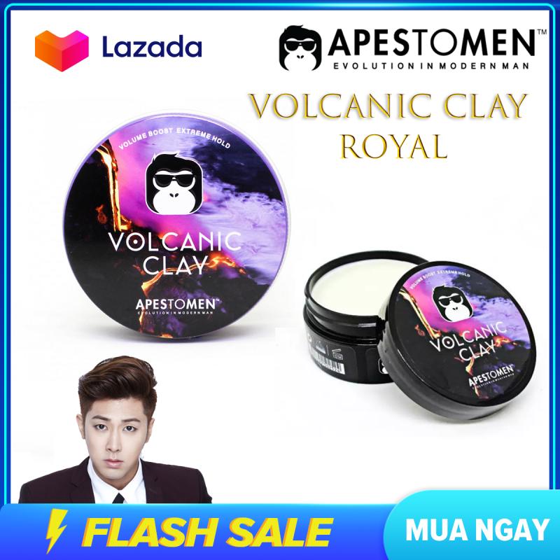 (SIÊU SALE) Sáp Vuốt Tóc Nam Apestomen Volcanic Clay , sáp vuốt tóc giúp giữ form tóc 10 giờ hoàn hảo - Làm dày tóc , hương thơm nhẹ nhàng , LÔI QUẤN nhập khẩu