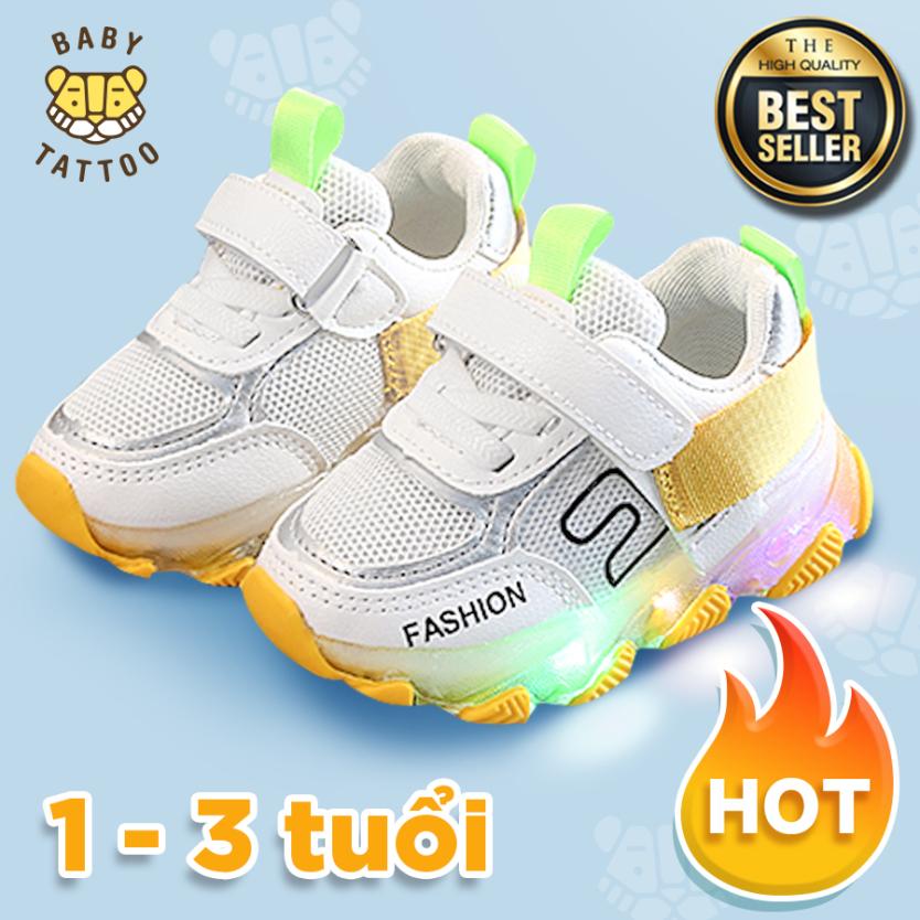 BABY TATTOO Giày cho bé, Giày thể thao trẻ em có đèn cho bé trai và bé gái siêu thoáng siêu mềm giá rẻ