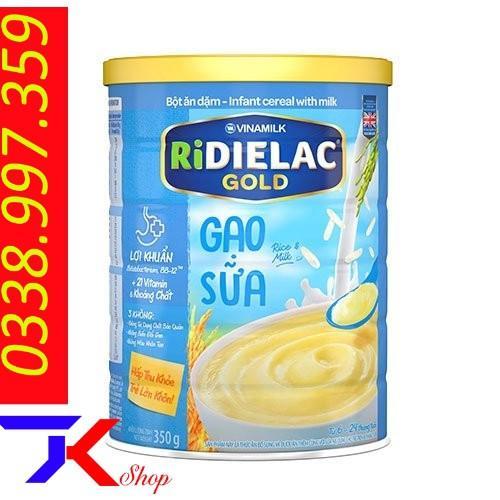 Mã Ưu Đãi Khi Mua Bột ăn Dặm RIDIELAC GOLD Gạo Sữa - Hộp Thiếc 350g