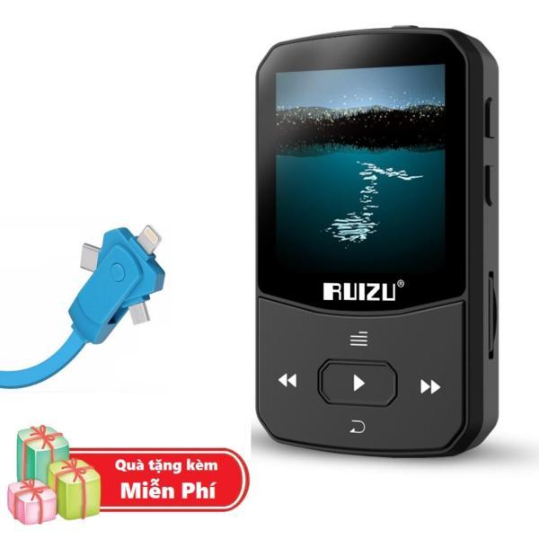 ( Quà tặng Dây sạc điện thoại đa năng ) Máy Nghe Nhạc MP3 Bluetooth Ruizu X52 Bộ Nhớ Trong 8GB Cao Cấp - Máy nghe nhạc Lossless Bluetooth Ruizu X52