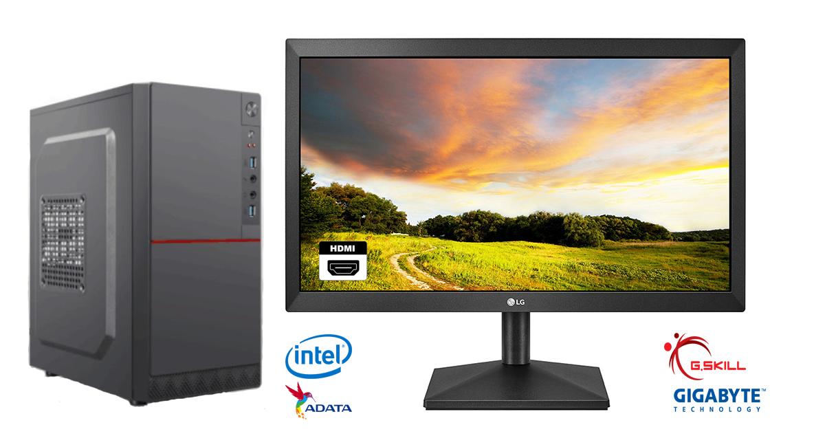 Bộ Máy Tính Văn Phòng để Làm Việc (New 100%) - CPU G5400 3.7GHz, Main H310, SSD 120GB, RAM 4GB, Nguồn 550W, Màn 19.5'' Giá Giảm