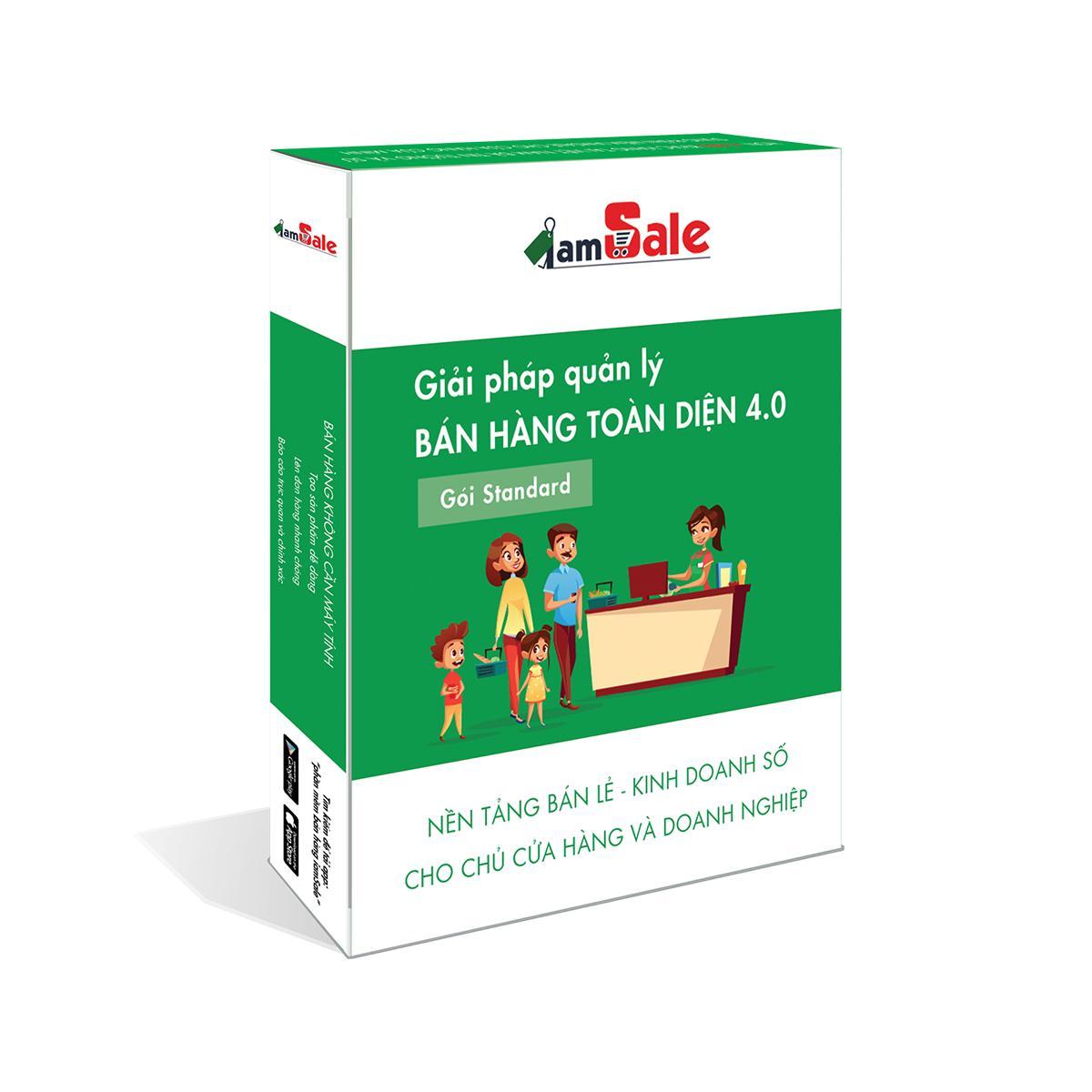 Phần mềm quản lý bán hàng toàn diện iamSale gói Standard 2 năm