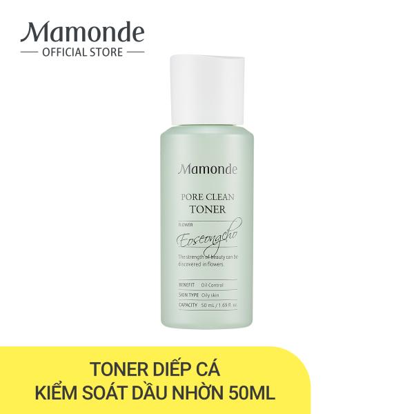 Nước cân bằng làm sạch dầu nhờn và ngăn ngừa mụn Mamonde Pore Clean Toner 50ml
