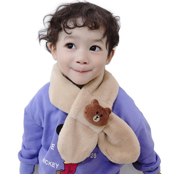 Giá bán Khăn quàng cổ,  khăn choàng cổ lông thỏ gắn họa tiết hoạt dễ thương cho bé trai bé gái từ 1 đến 12 tuổi