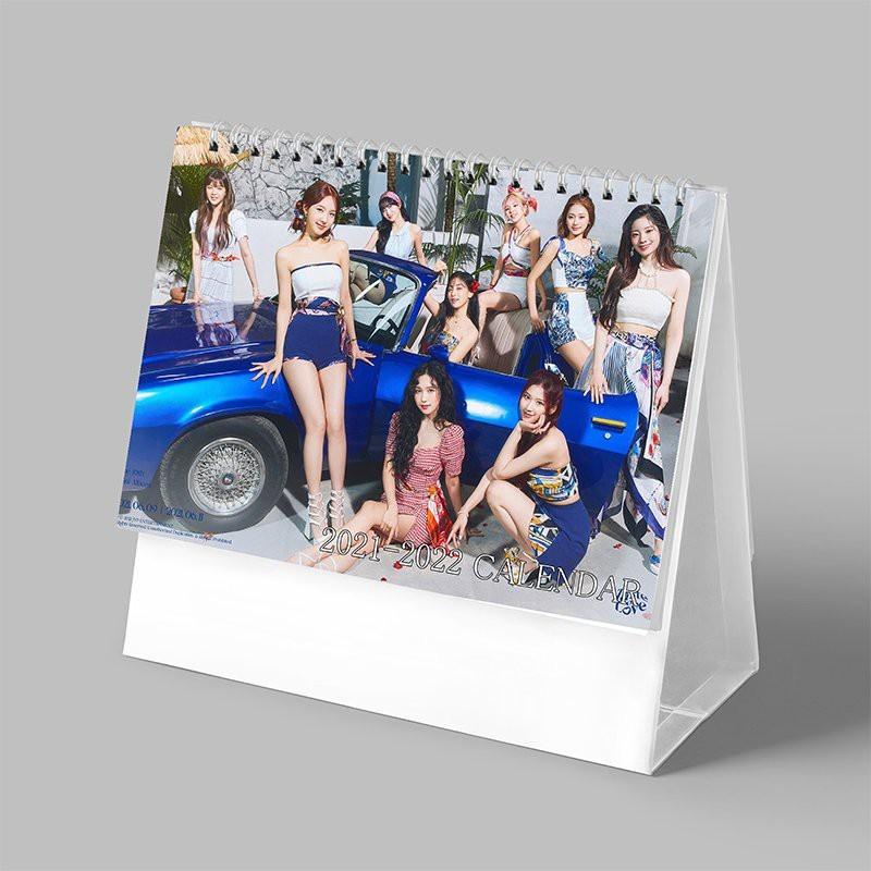 (Lịch 2021 - 2022) Lịch để bàn in hình nhóm nhạc TWICE idol thần tượng kpop CHỮ NHẬT NGANG dễ thương xinh xắn