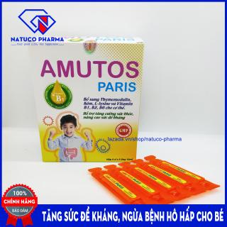 SIRO tăng đề kháng cho bé AMUTOS Paris - Bổ sung Thymomodulin, Taurin, kẽm, vitamin - tăng cường sức đề kháng - giảm nguy cơ mắc bệnh hô hấp, mũi, họng cho bé - Hộp 20 ống 10ml - Chuẩn GMP Bộ y tế thumbnail
