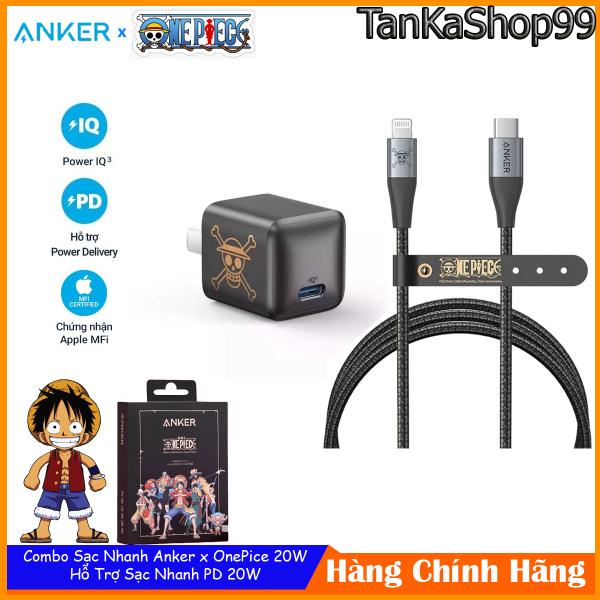 Combo Sạc Nhanh Anker x One Pice 20W Dành Cho iphone, Chuẩn MFI A2633 + A9541