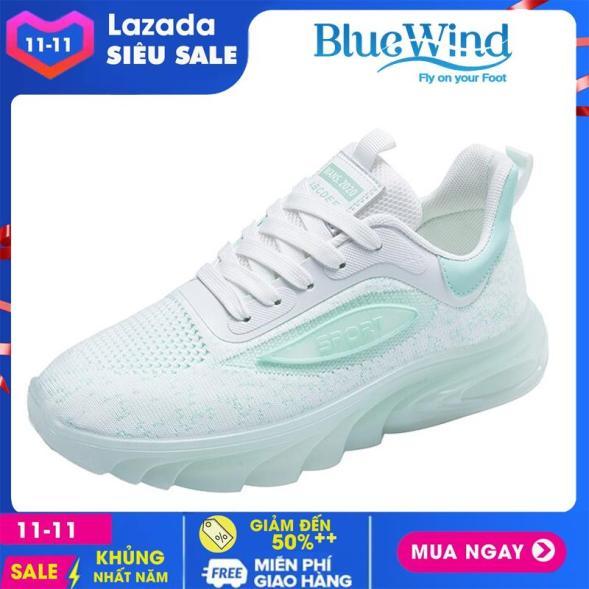 Giày Sneaker nữ Bluewind 68724 đế phản quang, in chữ Sport cá tính giá rẻ