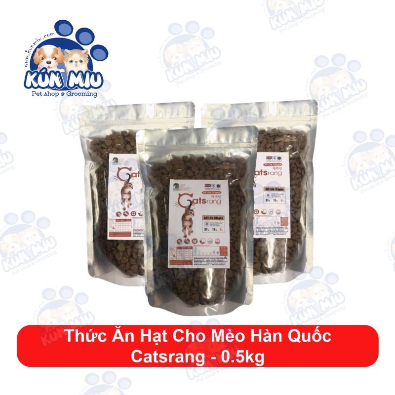 Thức Ăn Hạt Cho Mèo Hàn Quốc Catsrang Túi Chiết 500Gr