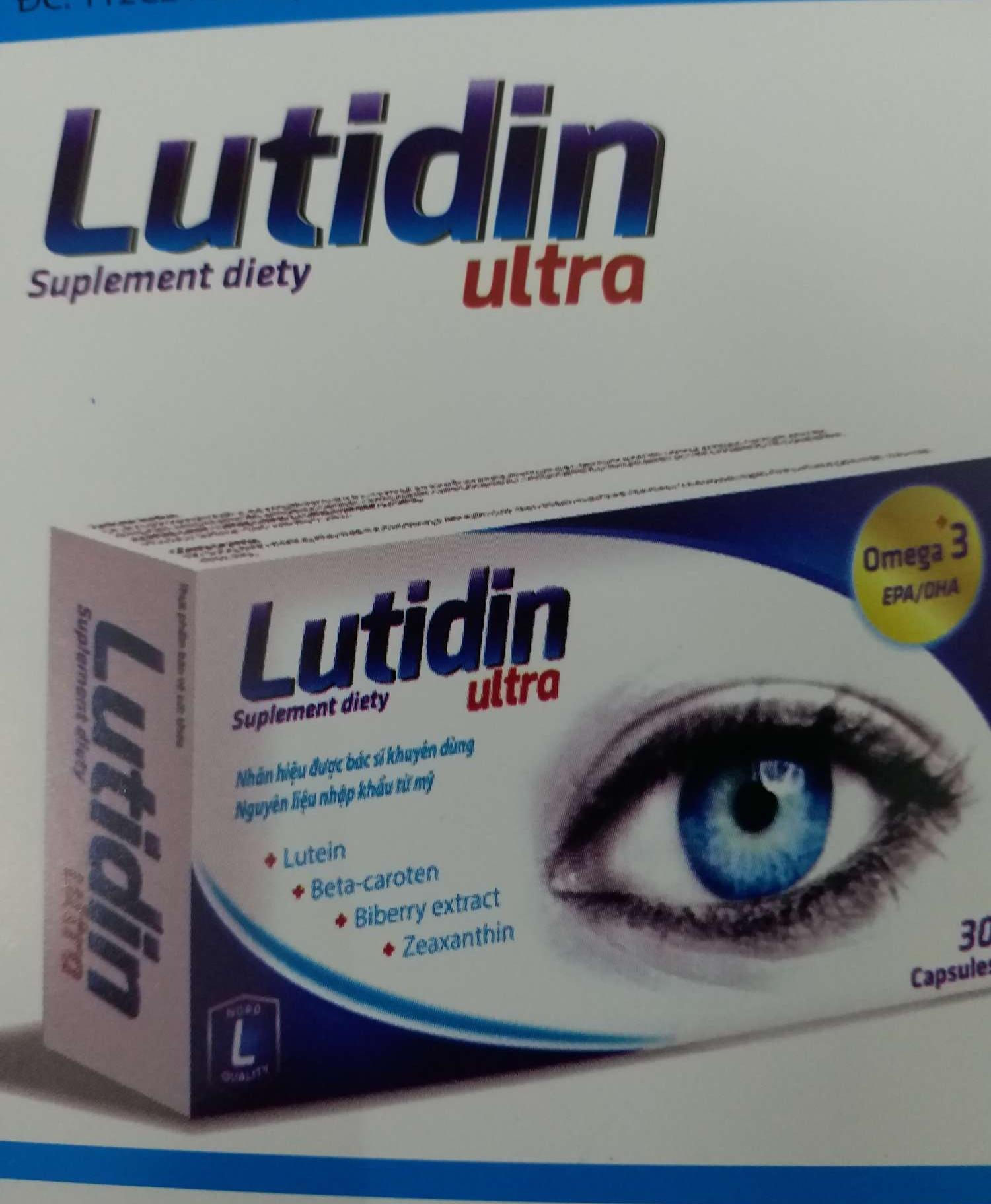Viên uống sáng mắt Lutidin ultra hộp 30v