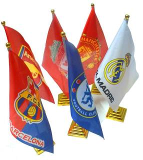 Cờ để bàn clb bóng đá Arsenal, real madrid, chelsea, liverpool, barcelona, manchester united thumbnail