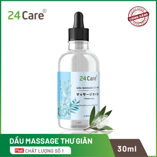 Dầu massage thư giãn nhẹ nhàng Nam Nữ thảo dược thiên nhiên 24Care - 30ml thumbnail