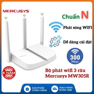 (Bảo Hành 5 Năm) Bộ Phát Wifi Mercusys 3 râu MW305R chuẩn N 300Mbps , Thiết kế nhỏ gọn - cài đặt dễ dàng , Router Wifi Chuẩn N - kích wifi - Router mercusys thumbnail