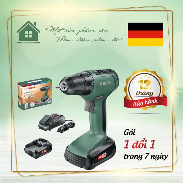 Bộ Máy Khoan Bosch Universal Drill 18 cung cấp công cụ hoàn hảo để khoan và vặn vít trong gỗ, kim loại và nhựa - Minhhouseware hàng nhập khẩu 100% từ Đức
