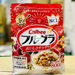 HSD 12 2021) Ngũ cốc trái cây Calbee gói đỏ 8000g - Nhật Bản hương vị thơm  ngon   Bột ngũ cốc, yến mạch   CoopMart.Co