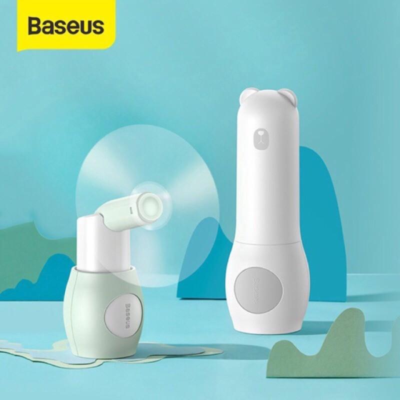 Quạt mini cầm tay hình gấu kiêm sạc dự phòng 2000mAh Baseus CXZD -A02 chính hãng - An toàn đối với trẻ nhỏ