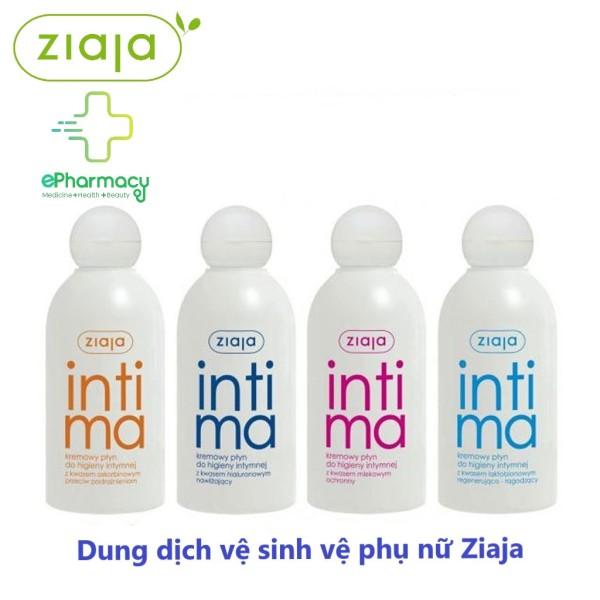 Intima Dung dịch vệ sinh nữ dạng sữa dịu nhẹ giúp trẻ hóa vùng kín - Intima Ziaja 200ml cao cấp