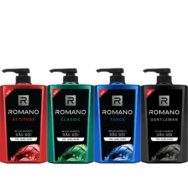 Dầu gội dành cho nam Romano hương nước hoa tóc chắc khỏe 650gr cao cấp