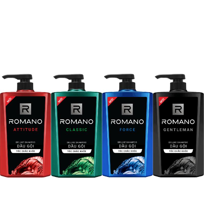 Dầu gội dành cho nam Romano hương nước hoa tóc chắc khỏe 650gr
