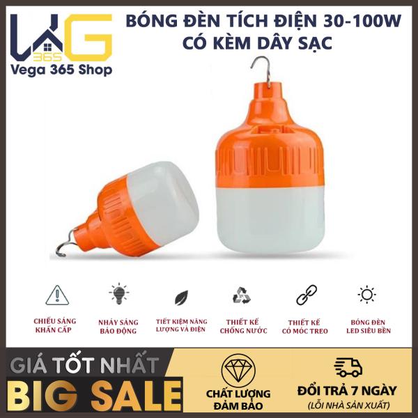 Bảng giá Bóng đèn tích điện- Bóng đèn led sạc tích điện [30W- 40W - 100W] Bóng led bulb sạc tích điện kín nước siêu sáng - Bóng đèn LED sạc tích điện 6-8h đầu cắm USB - Bóng đèn led tích điện năng lượng mặt trời