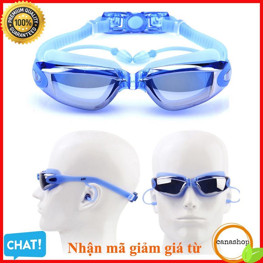 Offer Khuyến Mãi Kính Bơi Chống UV Tặng Nhét Tai Kẹp Mũi , Mắt Kiếng Đi Biển , Kính Bơi Nam Nữ