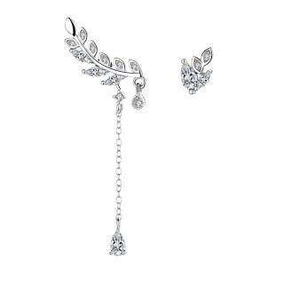 Bông tai dáng dài đính đá xinh xắn thanh tao hình giọt sương rơi nhánh lá ANTA Jewelry - ATJ7001 thumbnail