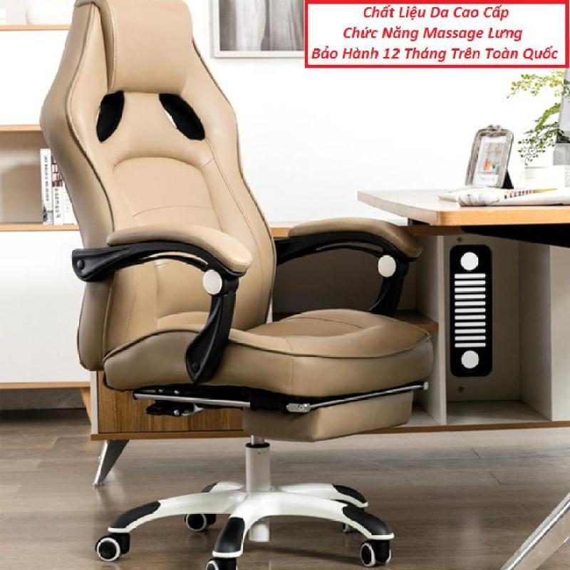 Ghế Làm Việc Kèm Massage Lưng, Có Để Chân, Ghế Văn Phòng, Ghế Giám Đốc giá rẻ