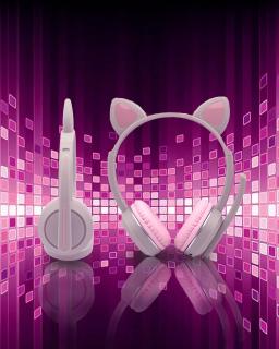 Tai Nghe Bluetooth Không Dây Có Mic Akz-K23 Hình Mèo Đáng Yêu thumbnail